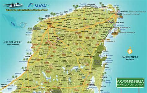 yucatan peninsula map yucatan peninsula map images