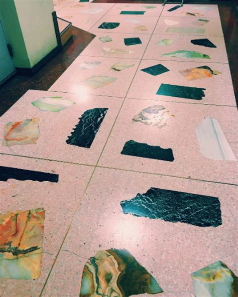 pink patterned floor tiles pink terrazzo flooring prints patterns and colours