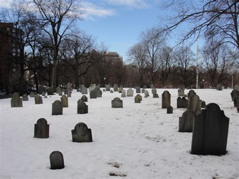 s day graveyard boston common s graveyard on a snowy day maiden voyage
