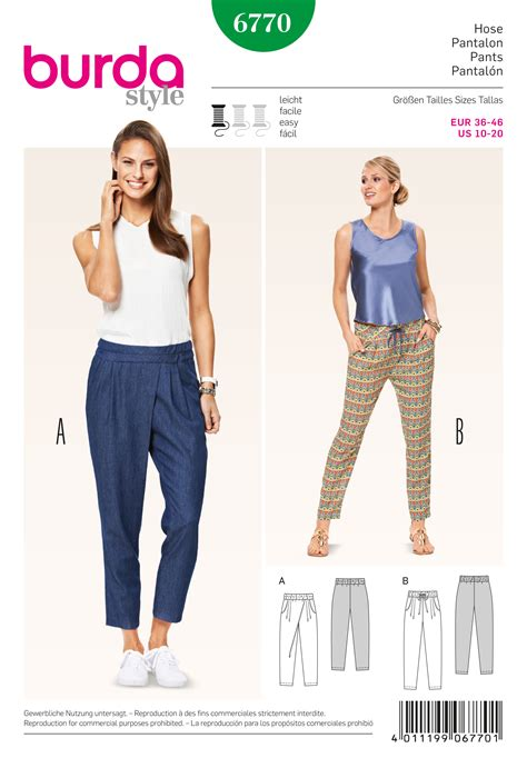jumpsuit sewing pattern 2015 burda 6770 burda style pants jumpsuits