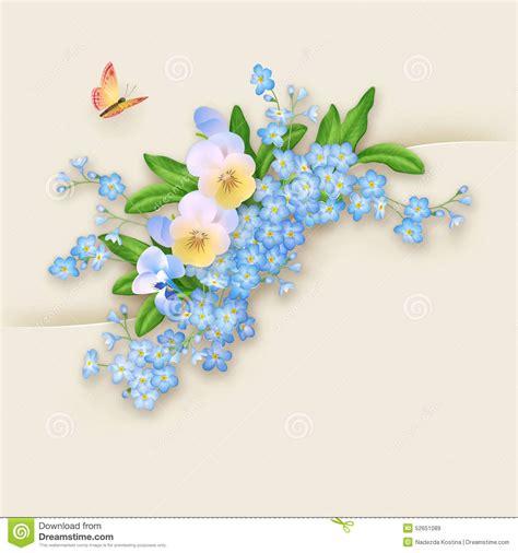 Vergiss Mein Nicht Bilder 4807 by Blumen Vergissmeinnicht Gru 223 Karte Vektor Abbildung Bild