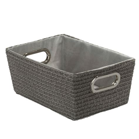 bathroom storage basket wenko chromo rectangular bathroom storage basket grey
