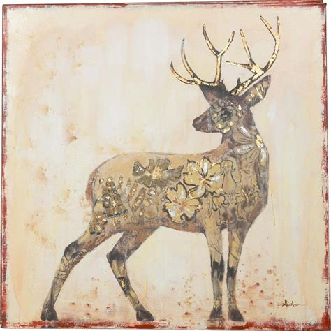 y decor 40 in x 40 in quot beautiful stag quot painted