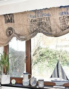 coffee sack curtains 1000 images about coffee bean bag craft on pinterest