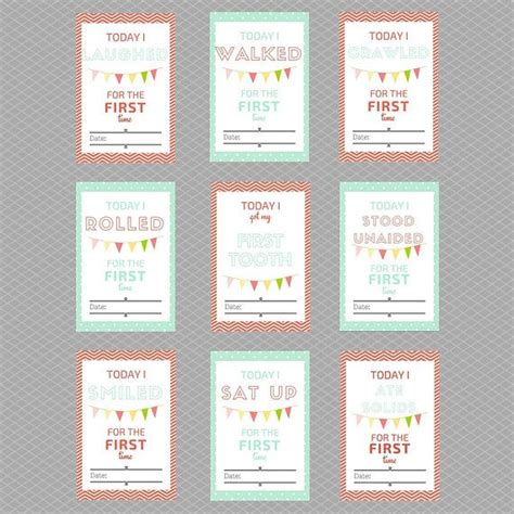 printable baby milestone cards instant by