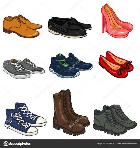 imagenes navideñas de botas animadas ensemble d 233 l 233 ments de chaussures de couleur dessin anim 233