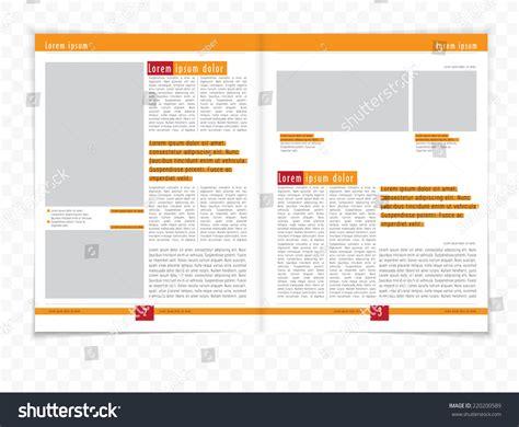 vector layout magazine layout magazine vector 220200589 shutterstock