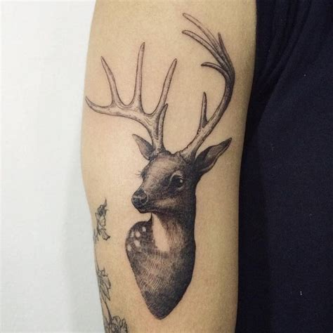 31 amazing deer tattoos with antler best designs with
