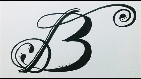 Drawing B Letter by Fancy Letter I Designs Www Pixshark Images