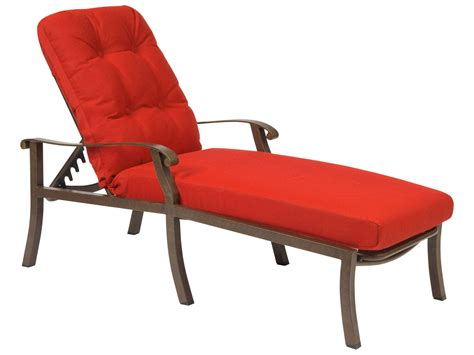 chaise lounge with cushion woodard cortland cushion aluminum adjustable chaise lounge