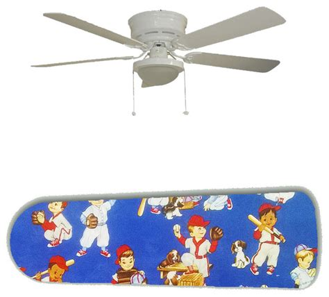 boys ceiling fans baby boy baseball 52 quot ceiling fan and l contemporary