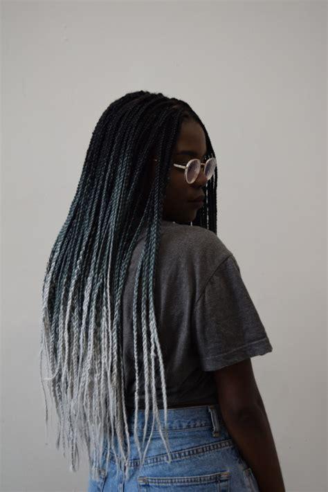 box hair color hair still gray ombre box braids tumblr