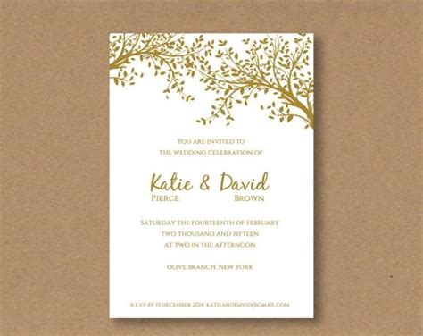 Diy Editable And Printable Wedding Invitation Template Gold Leaves 2422432 Weddbook Wedding Invitation Card Template Editable
