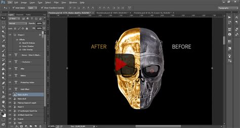 gold effect photoshop action  odbrand graphicriver