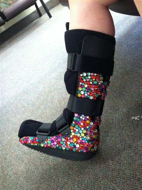 cast boot steph made this bedazzled boot only my with