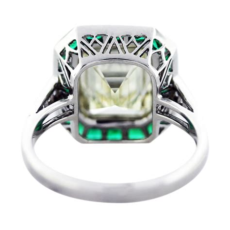 5 ct emerald cut emerald platinum engagement ring