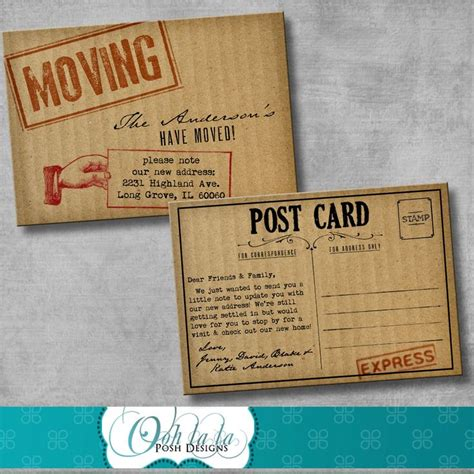 free printable moving postcards 25 best ideas about moving announcements on pinterest
