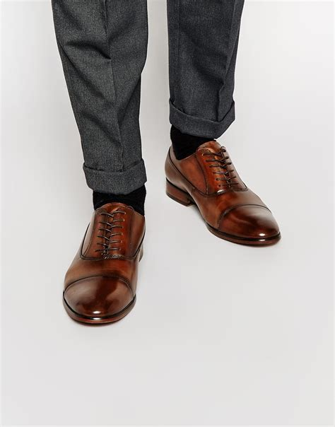 aldo maric leather shoes in brown for lyst