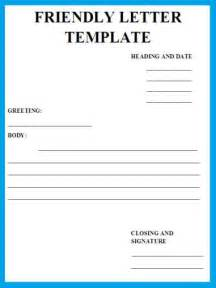 templates for letters format for a friendly letter best template collection