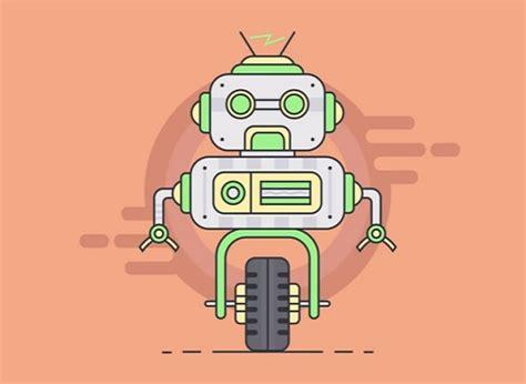 tutorial illustrator robot draw a robot character flat design in illustrator