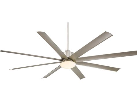 slipstream xxl ceiling fan by minka aire minka aire slipstream xxl brushed nickel 84 wide outdoor