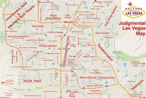 las vegas map judgmental city maps earthly mission