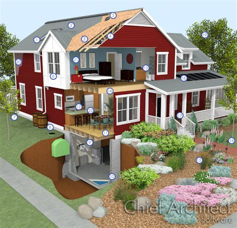 software to build a house green building with chief architect home design software
