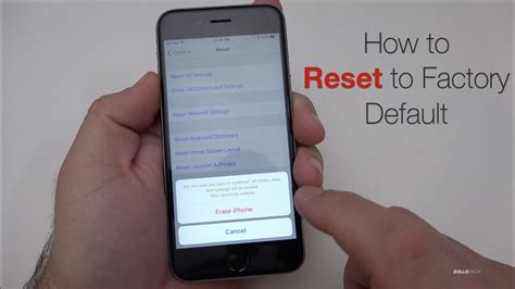 reset iphone  factory default youtube