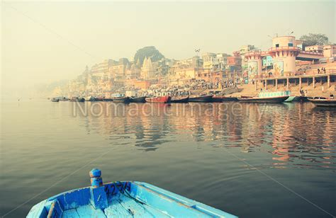 boating license india boating on the river ganges with incredible views stock
