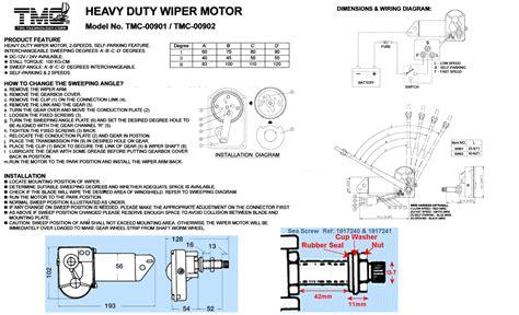 tmc wiper motor wiring diagram 30 wiring diagram images