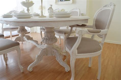 dining room table six chairs summer deal antique shabby chic dining table six