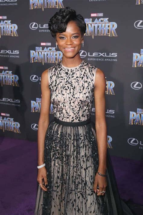 letitia wright tv series letitia on the red carpet of black panther premiere