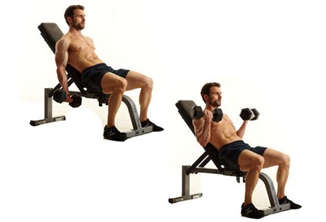 dumbbell bicep curl incline bench 8 blasting moves to build biceps and triceps