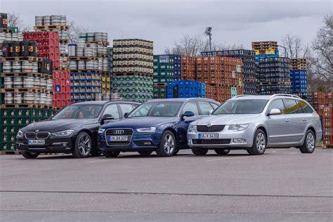 Skoda And Audi by Bmw Touring Vs Audi A4 Avant Vs Skoda Superb Combi