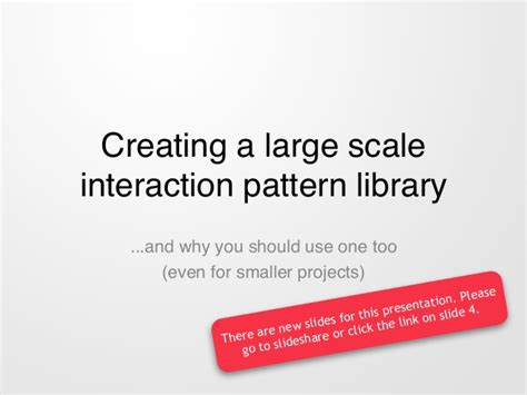 interaction pattern library creating a large scale interaction pattern library