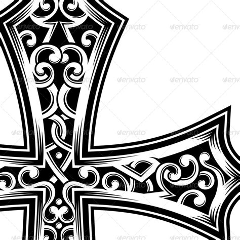 ornate christian cross vector by vectorfreak graphicriver