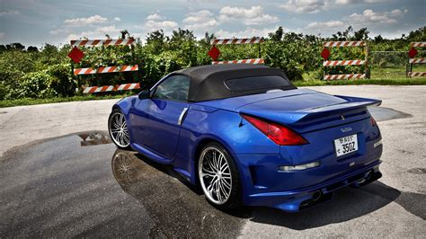 nissan convertible hardtop nissan 350z roadster wallpapers hd convertible blue