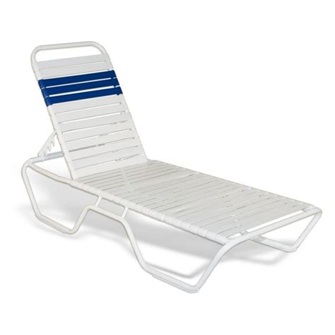 commercial strap chaise lounge xx white sfu