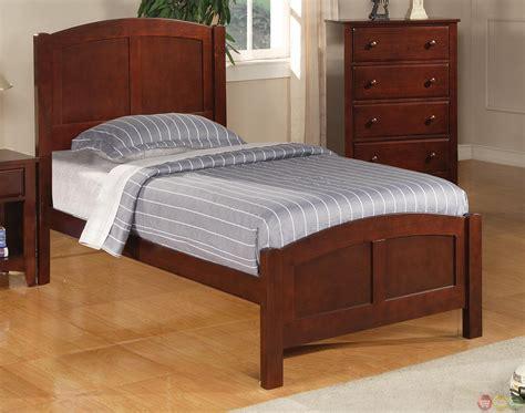 cherry finish bedroom furniture parker brown cherry finish twin panel bedroom furniture set