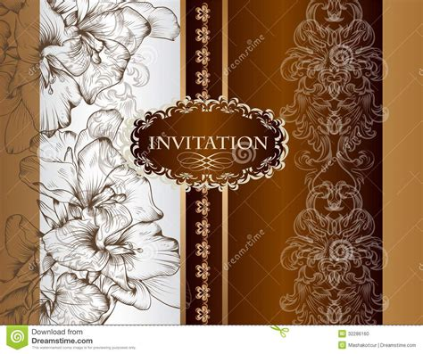 free invitation card designs 5 wedding invitation card in royal style stock vector