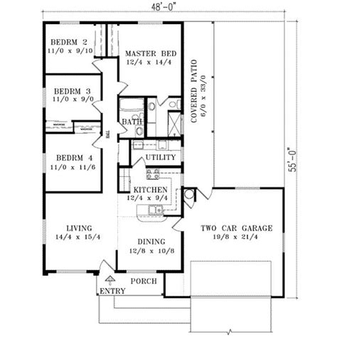 1400 square foot house plans 1400 square feet 4 bedrooms 2 batrooms 2 parking space