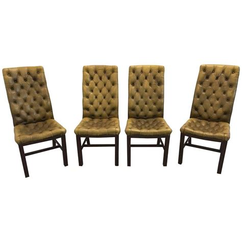Chesterfield Dining Chair Set Of Chesterfield Dining Chairs For Sale At 1stdibs