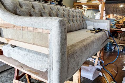 long upholstery long sofa project reupholstered for a customer in van nuys