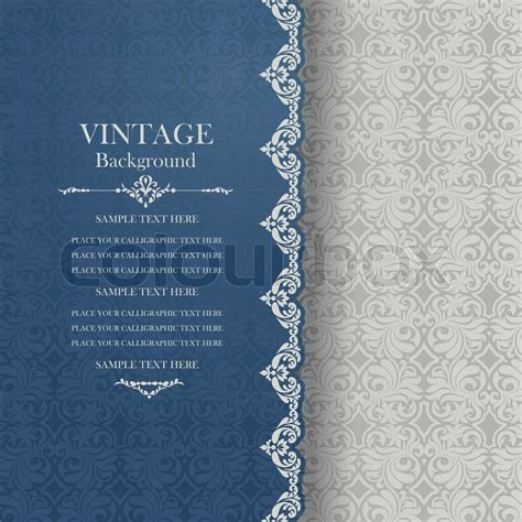 ornate vintage template background vector 04 over vintage background antique greeting card invitation with