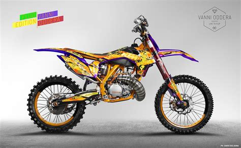 freestyle motocross bike la mia ktm fluo edition asd vanni fmx