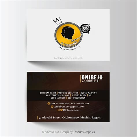 entertainment business card templates free dj entertainment business cards images card design and