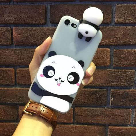 Iphone 6 Plus 3d Panda 1 Soft Silicone Back Limited 3d panda doll soft silicone cover for iphone 6 6s 7 plus tosave