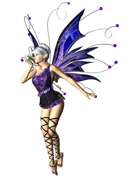 free illustration woman fairy elf wings 3d