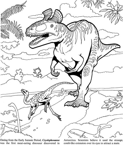 coloring book 2 dinosaurs welcome to dover publications