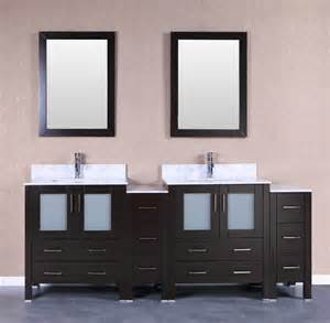 Vanity Set Espresso Bosconi Ab230cmu2s 84 Inch Vanity Set In Espresso